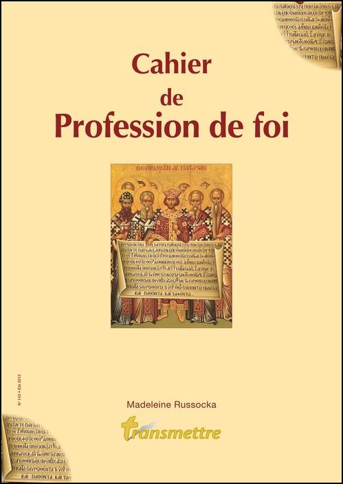 Cahier de profession de foi