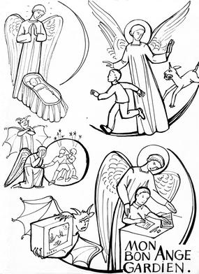 L 39 ange gardien transmettre - Dessin d ange gardien ...