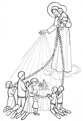 Dessin De Chapelet le rosaire archives - transmettre