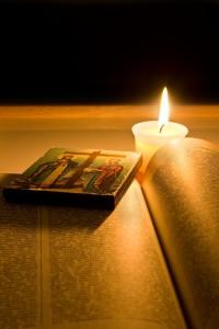 candle & bible