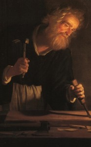Saint Joseph charpentier  Gerrit van Honthorst